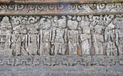 Two-dimensional reliefs from the walls of Candi Jago